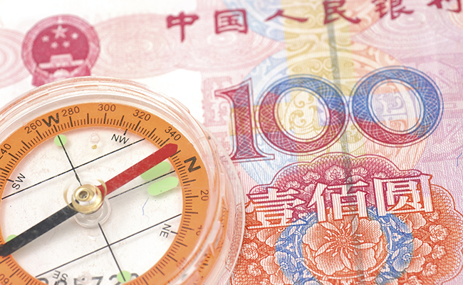 Compass on renminbi