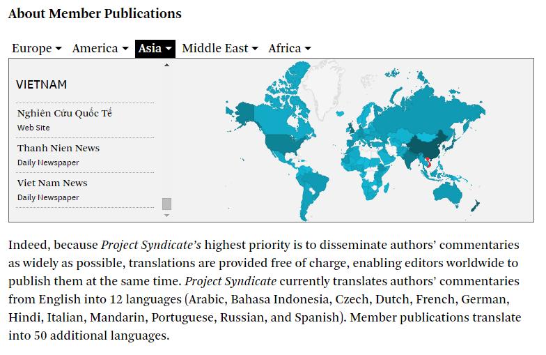 Nghiencuuquocte.net đã trở thành đối tác xuất bản chính thức của Project Syndicate. Thông tin thêm về Project Syndicate có tại: https://www.project-syndicate.org/about
