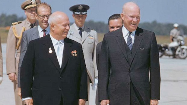 Eisenhower_Welcomes_Khrushchev