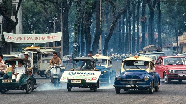 Taxis in Saigon, Vietnam ca. 1960's (5)